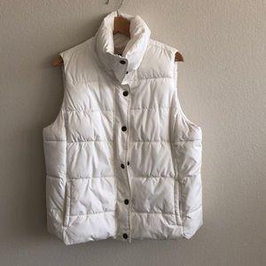 EUC Old Navy White Puff Vest SZ XL